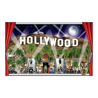 Beistle 3 2 x 5 2 Hollywood Backdrop; 2/Pack