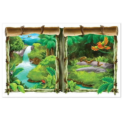 Beistle 3 2 x 5 2 Jungle Backdrop; 2/Pack