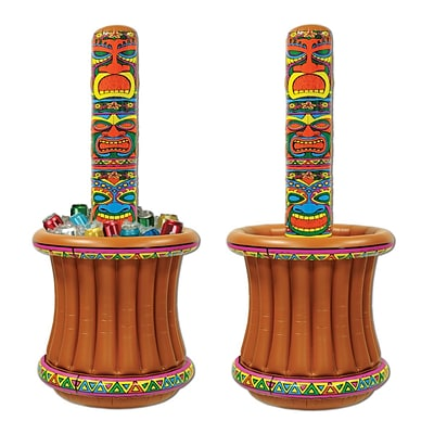 Beistle 5 2 x 27 Inflatable Tiki Totem Cooler