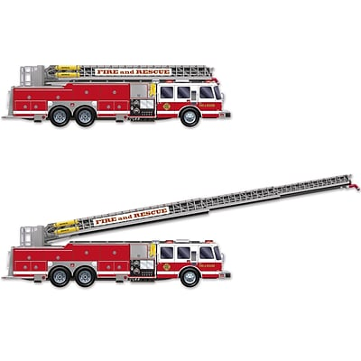 Beistle 5 Fire Truck With Jointed Ladder, 2/Pack