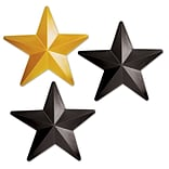 Beistle Black/Gold 12 1/4 Plastic Stars