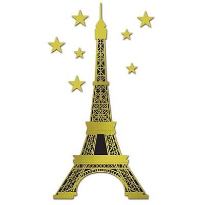 Beistle 5 10 1/2 Jointed Foil Eiffel Tower; 2/Pack