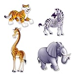 Beistle Jungle Animal Cutouts