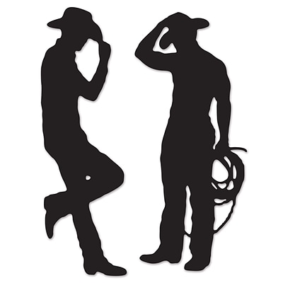 Beistle 35 & 37 Cowboy Silhouettes; 6/Pack