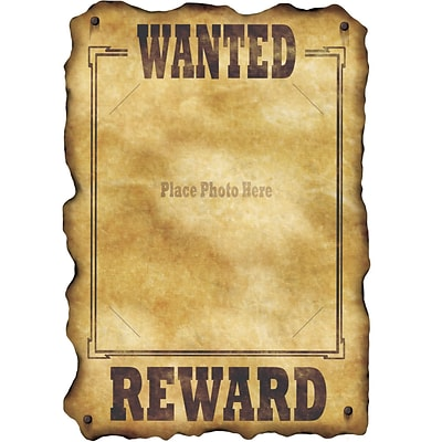 Beistle 17 x 12 Western Wanted Sign; 9/Pack