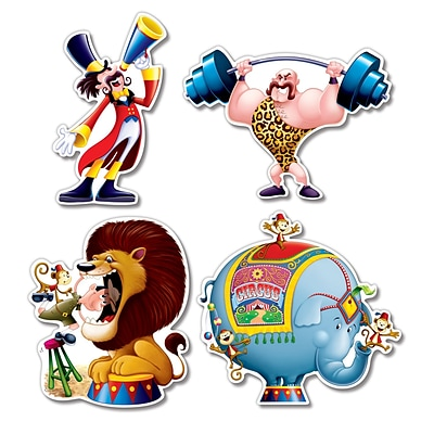 Beistle 14 Circus Cutouts; 12/Pack