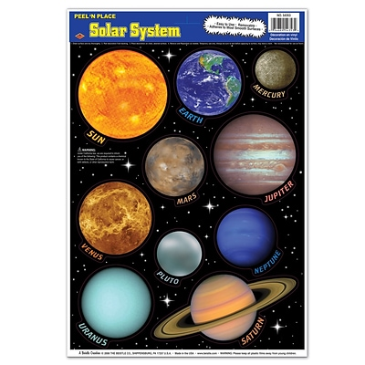Beistle 12 x 17 Solar System Peel N Place Sticker; 40/Pack