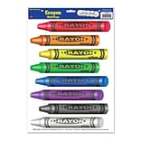 Beistle Crayons Peel N Place Sticker