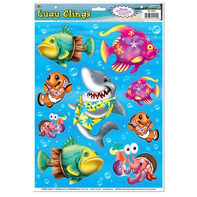 Beistle 12 x 17 Luau Clings; 63/Pack
