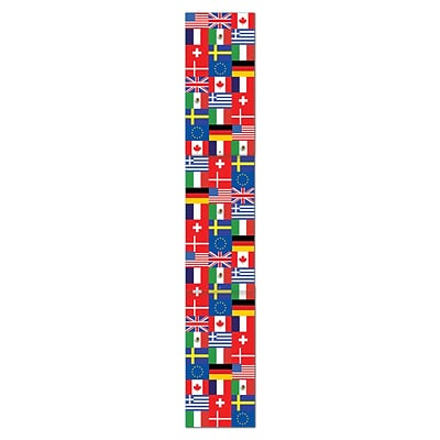 Beistle 6 Jointed International Flag Pull Down Cutouts; 3/Pack