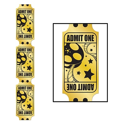 Beistle 6 Jointed Foil Golden Ticket Pull Down Cutouts; 2/Pack