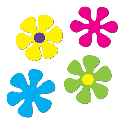 Beistle Retro Flower Cutouts; 12 - 13 1/4, 12/Pack