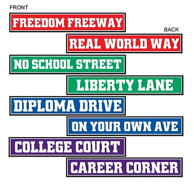 Beistle 4 x 24 Graduation Street Sign Cutouts; 12/Pack