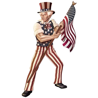 Beistle 5 6 Jointed Uncle Sam, 2/Pack