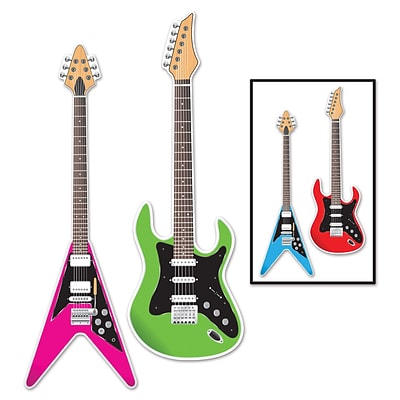 Beistle Guitar Cutouts; 3, 6/Pack