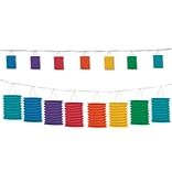 Beistle 2/Pack Rainbow 12 Lantern Garland