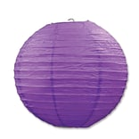 Beistle 9 1/2 Purple Paper Lantern