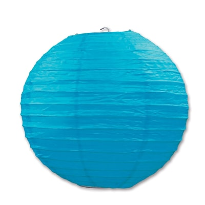 Beistle 9 1/2 Paper Lantern; Turquoise, 6/Pack