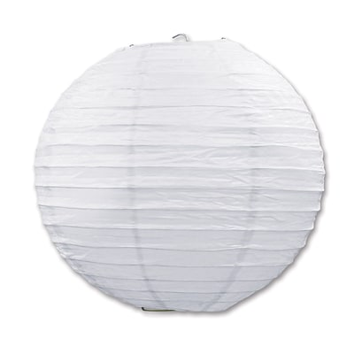 Beistle 9 1/2 Paper Lantern; White, 6/Pack