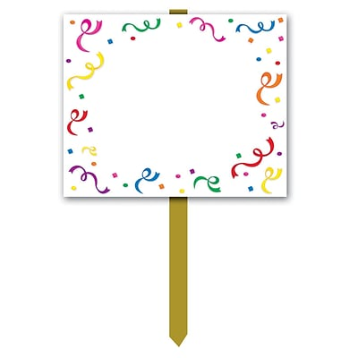 Beistle 12 x 15 Blank Yard Sign; 3/Pack