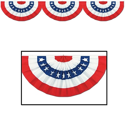 Beistle 12 x 6 Jointed Patriotic Bunting Cutouts; 3/Pack