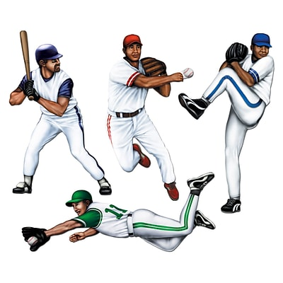 Beistle 20 Baseball Cutouts; 12/Pack