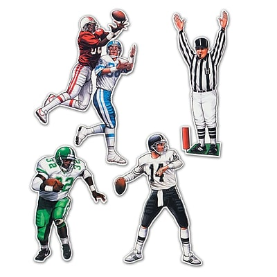 Beistle 17 - 22 Football Figures Cutouts; 12/Pack