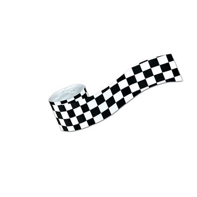 Beistle 2 1/2 x 30 Checkered Crepe Streamer; 5/Pack