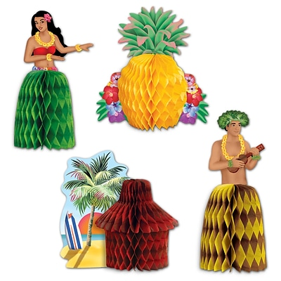 Beistle 5 1/2 Luau Playmates Centerpiece; 12/Pack