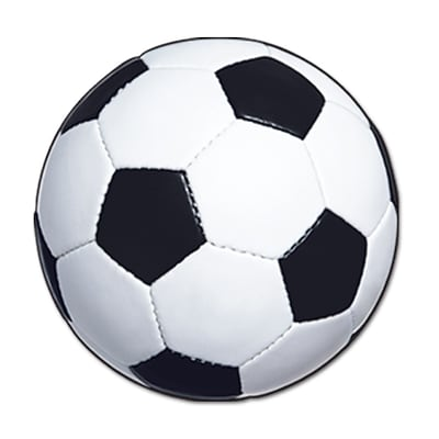 Beistle 13 1/2 Soccer Ball Cutouts; 10/Pack
