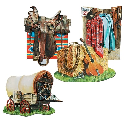 Beistle 16 Cowboy Cutouts; 12/Pack