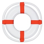 Beistle 23 WH/RD Plastic Life Preserver