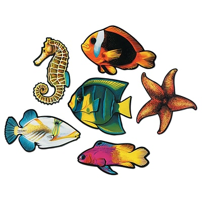 Beistle 15 Fish Cutouts; 12/Pack
