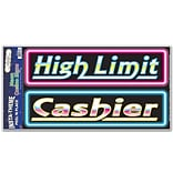 Cashier & High Limit.. Peel N Place Sticker