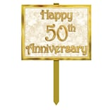 Beistle 50th Anniversary Yard Sign