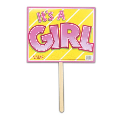 "Beistle 12""x15"" It's A Girl Yard Sign"