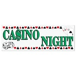 Beistle 5x21 Casino Night Sign Banner