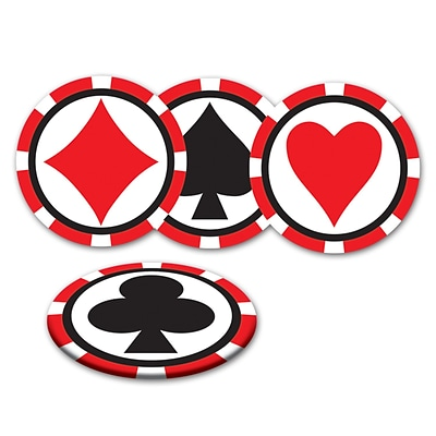 Beistle 3 1/2 Casino Coasters; 32/Pack