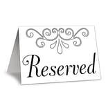 Beistle 4 1/4x3 Reserved Table Cards