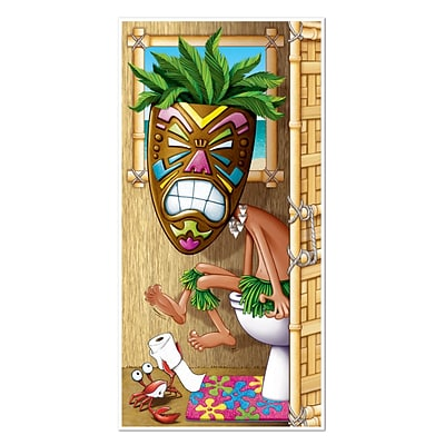 Beistle 30 x 5 Tiki Man Restroom Door Cover; 3/Pack