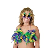 Beistle Mardi Gras Feather Bikini Top