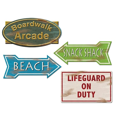 Beistle 14 Beach Sign Cutouts; 12/Pack