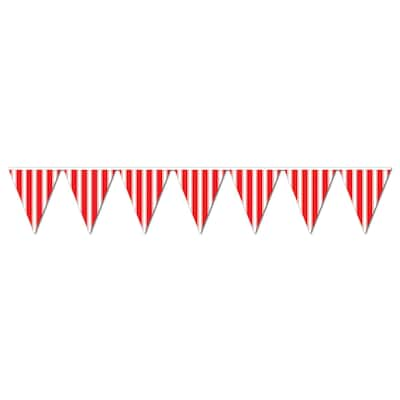 """Beistle 10""""x12' Striped Pennant Banner"""
