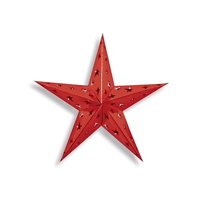 Beistle 12 Foil Dimensional Star; Red, 4/Pack