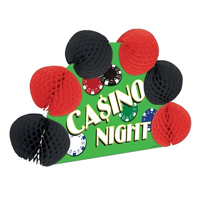 Beistle 10 Casino Pop-Over Centerpiece; 4/Pack