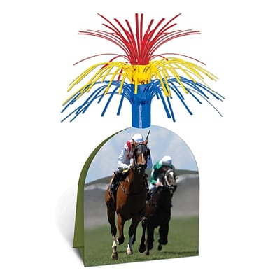 Beistle 13 Horse Racing Centerpiece; 3/Pack