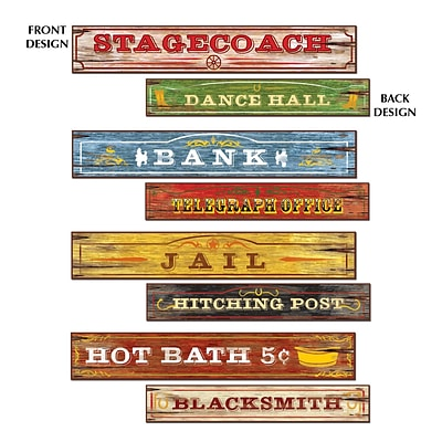 Beistle 4 x 24 Western Sign Cutouts; 12/Pack