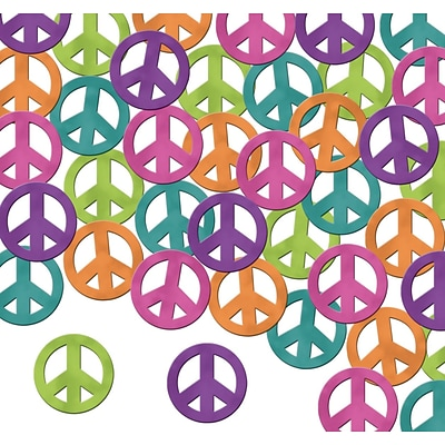 Beistle Fanci-Fetti Peace Signs Confetti; Assorted, 5/Pack