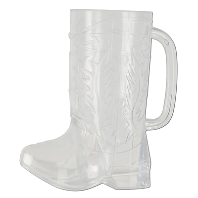 Beistle 6 1/2 17 oz. Cowboy Boot Mug; Clear, 3/Pack