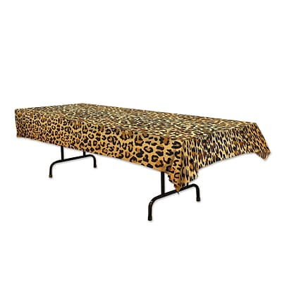 Beistle 54 x 108 Leopard Print Tablecover; 2/Pack